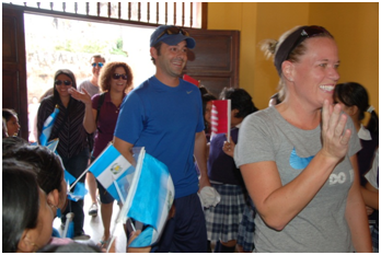 Dr. Jennifer Cook and the WOGO team arrived to great fanfare at the Bethancourt School last fall in Guatemala.