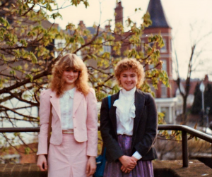 Dr. Hakanson and our blogger in London, April, 1984