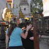 WOGO Surgeon Dr. Hakanson takes a prayer walk at the Monkey Temple in Kathmandu.